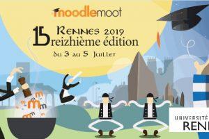 Visuel MoodleMoot 2019 Rennes1