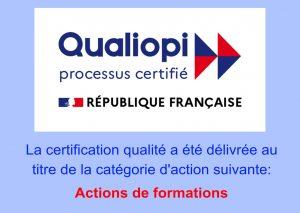 Certification Qualiopi pour les actions de formations du Centre Therapose Formations